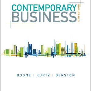 Test bank for Contemporary Business 17th Edition by Boone