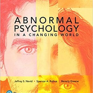 Solution manual Abnormal Psychology In A Changing World 10E Nevid