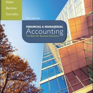 Solution manual Financial & Managerial Accounting 17E Williams