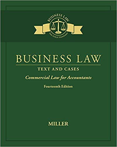 Test bank for Business Law: Text & Cases 14th Edition by Miller