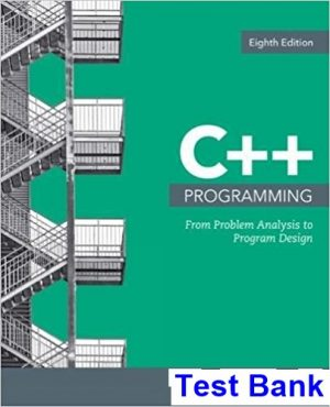Solution manual for C++ Programming: From Problem Analysis to Program Design 8th Edition by Malik
