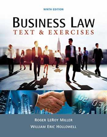 Test bank for Business Law: Text & Exercises 9th Edition by Miller