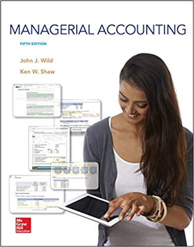 Test Bank Managerial Accounting 5E Wild