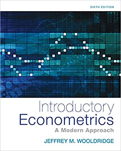 Test Bank Introductory Econometrics A Modern Approach 6E Wooldridge