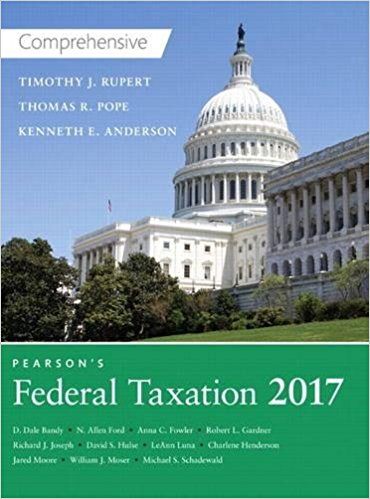 Solution manual Pearson'S Federal Taxation 2017 Comprehensive 30E Pope