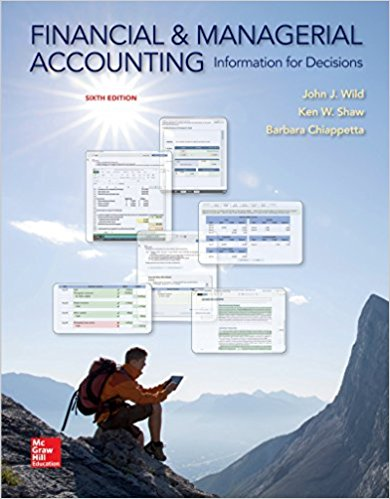 Solution manual Financial And Managerial Accounting 6E Wild