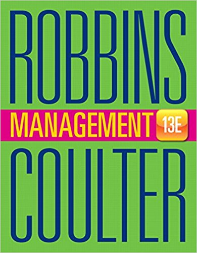 Solution manual Management 13E Robbins