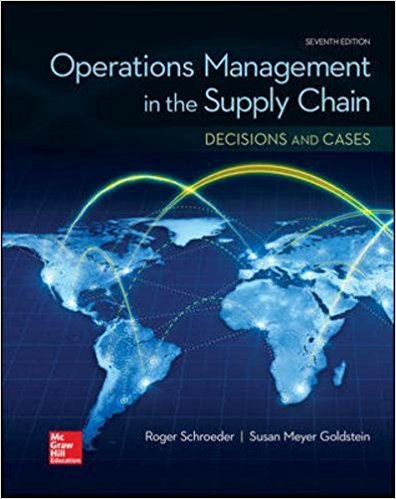 Solution manual Operations Management In The Supply Chain Decisions & Cases 7E Schroeder