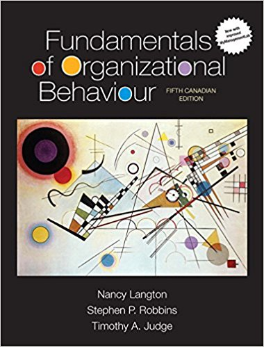 Test Bank Fundamentals Of Organizational Behaviour 5E Langton
