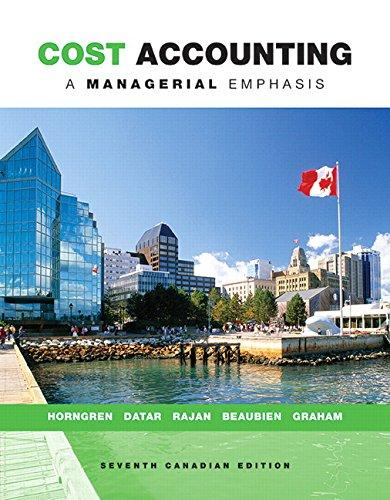 Solution manual Cost Accounting A Managerial Emphasis 7E Horngren