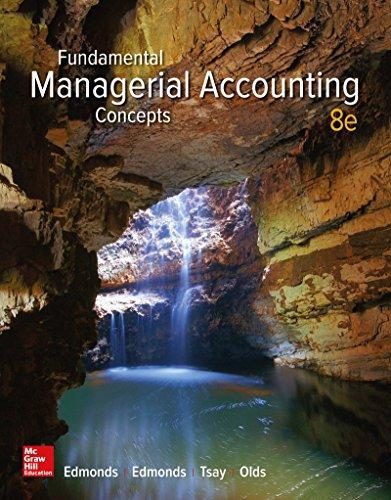 Solution manual Fundamental Managerial Accounting Concepts 8E Edmonds