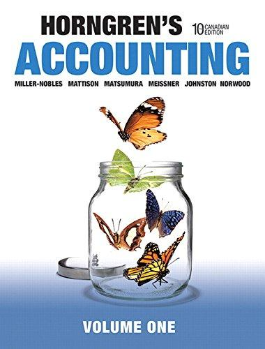 Solution manual Horngren'S Accounting 10E Miller-Nobles