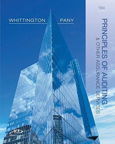 Solution manual Principles Of Auditing And Other Assurance Services 19E Whittington