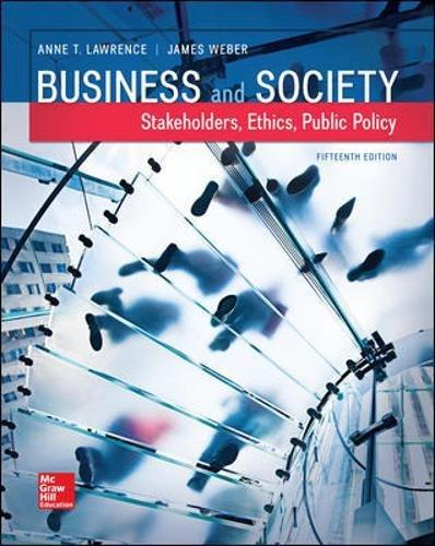 Test Bank Business And Society Stakeholders