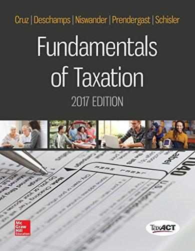 Test Bank Fundamentals Of Taxation 10E Cruz