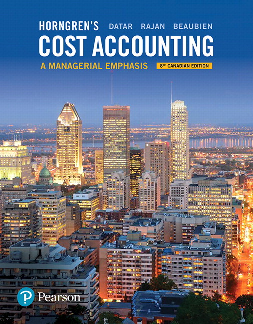 Test Bank Horngren'S Cost Accounting A Managerial Emphasis 8E Datar