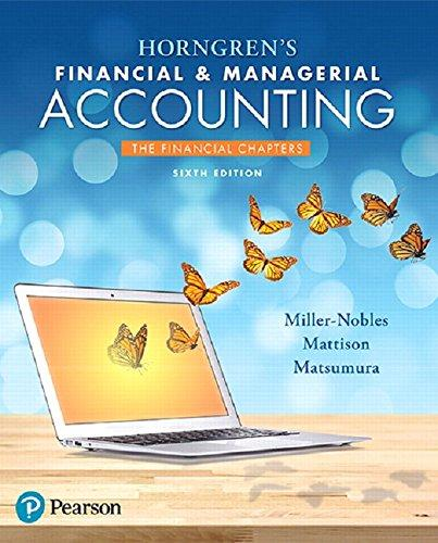 Test Bank Horngren'S Financial & Managerial Accounting