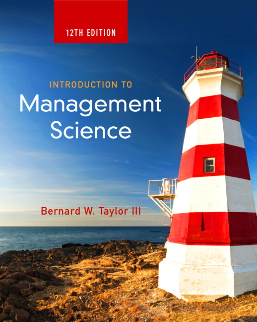 Test Bank Introduction To Management Science 12E Taylor
