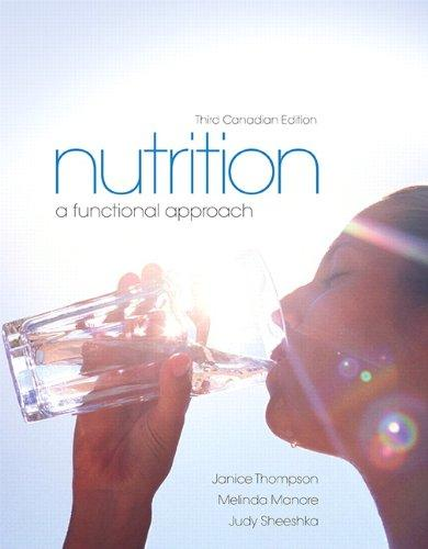 Test Bank Nutrition A Functional Approach 3E Thompson