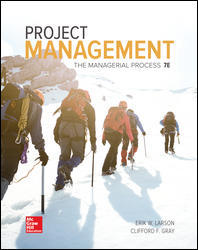 Test Bank Project Management The Managerial Process 7E Larson