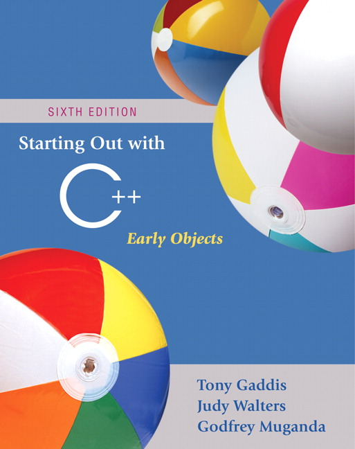 Test Bank (Complete Download) for   Starting Out with C++: Early Objects