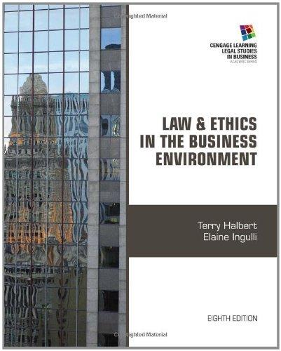 Test Bank (Complete Download) for   Law and Ethics in the Business Environment