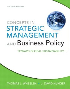 Test Bank (Complete Download) for  Concepts in Strategic Management and Business Policy Toward Global Sustainability 13th Edition