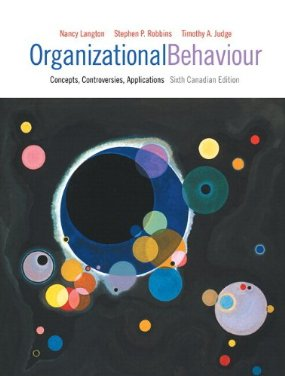 Test Bank (Complete Download) for  Organizational Behaviour Concepts Controversies Applications