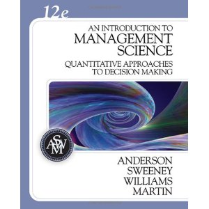 Test Bank (Complete Download) for  An Introduction to Management Science Quantitative Approaches to Decision Making