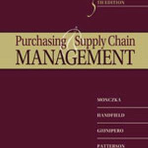 Solution Manual (Complete Download) for   Purchasing and Supply Chain Management