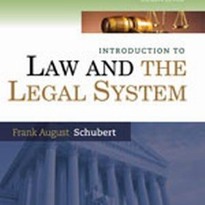 Solution Manual (Complete Download) for   Introduction to Law and the Legal System