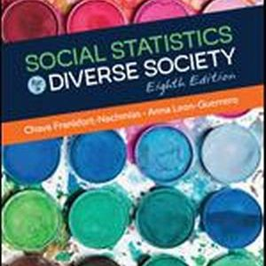 Test Bank (Complete Download) for Social Statistics for a Diverse Society
